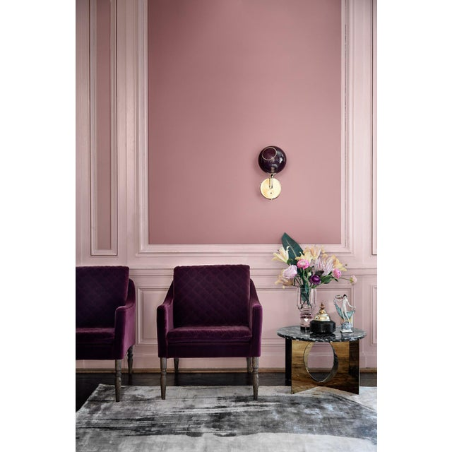 Contemporary Ballroom the Wall Short Sconce - Pink For Sale - Image 3 of 8