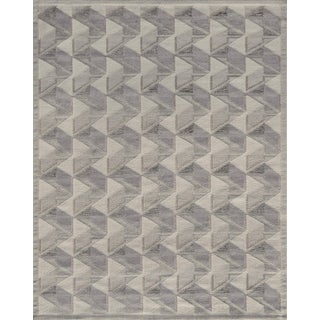 Hand-Woven Swedish Kilim Inspired Wool Rug For Sale