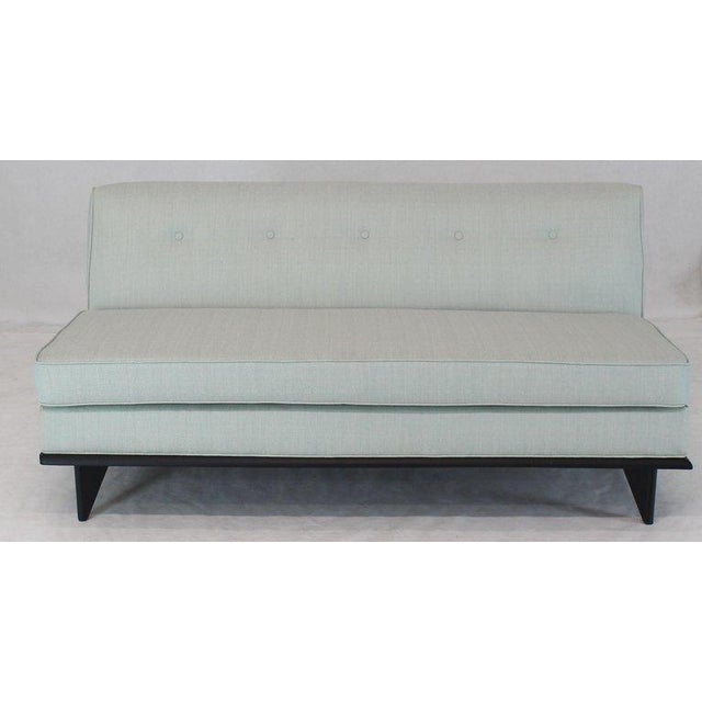 New Upholstery John Widdicomb Mid Century Modern Loveseat Couch For Sale - Image 9 of 9