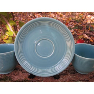 1950s Turquoise Fiestaware Dish Set - 3 Piece Set Preview