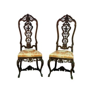 Baroque Side Chairs - a Pair For Sale