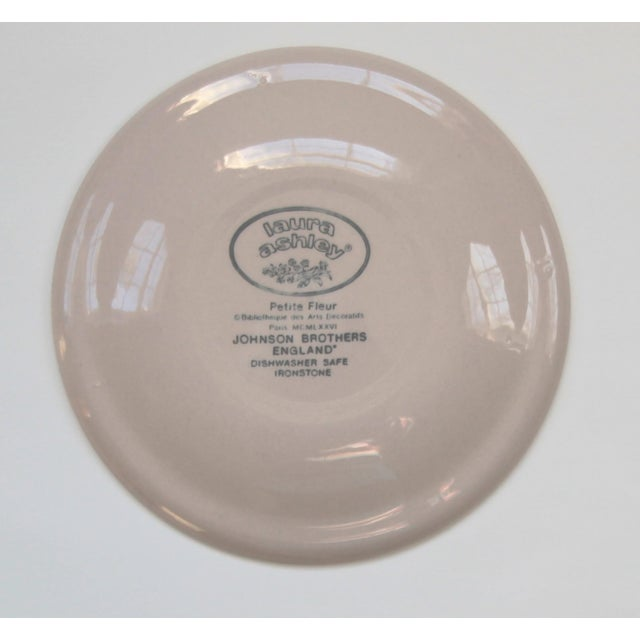 Cottage Laura Ashley Transfer Ware Ironstrone Bread & Butter Plates - Set of 8 For Sale - Image 3 of 4