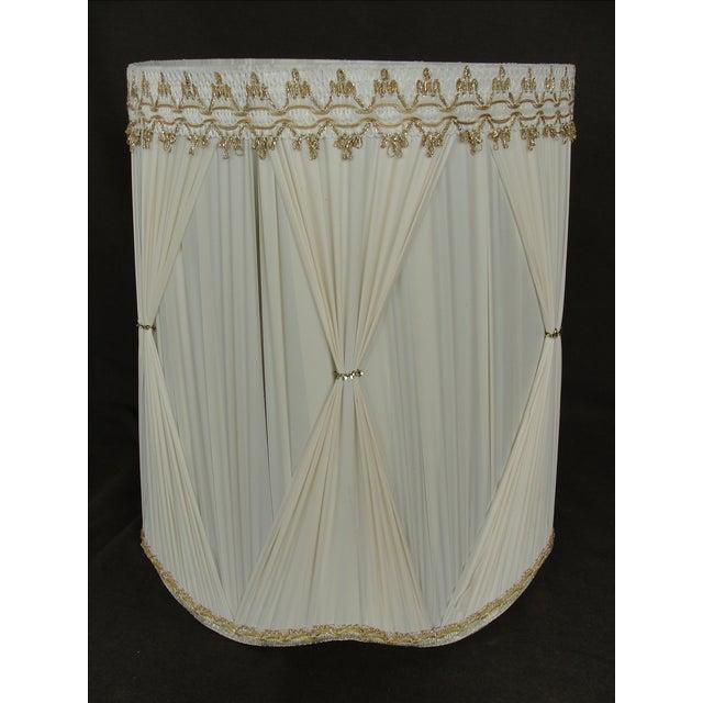 Vintage Mid-Century Modern Cloth Lamp Shade - Image 4 of 6