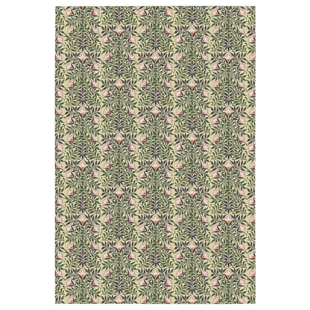 Flower Vine Wallpaper Remnant For Sale