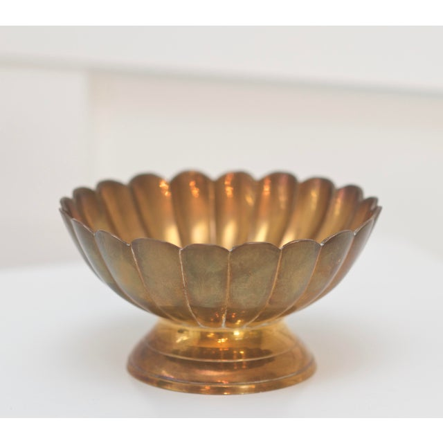 Hollywood Regency Brass Scallop Footed Bowls - Set of 4 - Image 4 of 4