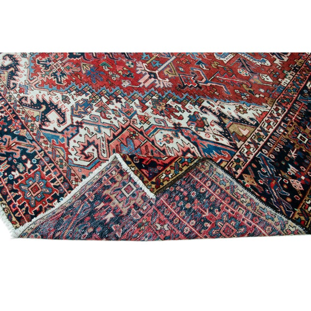 1920s Large Heriz Rug - 11′4″ × 14′1″ For Sale - Image 5 of 11