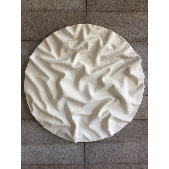 White Minimalist Plaster Painting, 'Currents' For Sale - Image 8 of 9