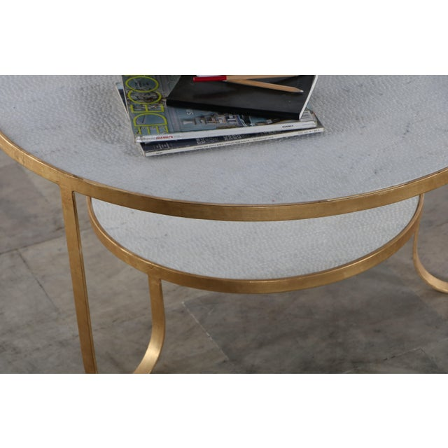 2010s Contemporary Erdos + Ko Iron and Marble Rani II Coffee Table For Sale - Image 5 of 7