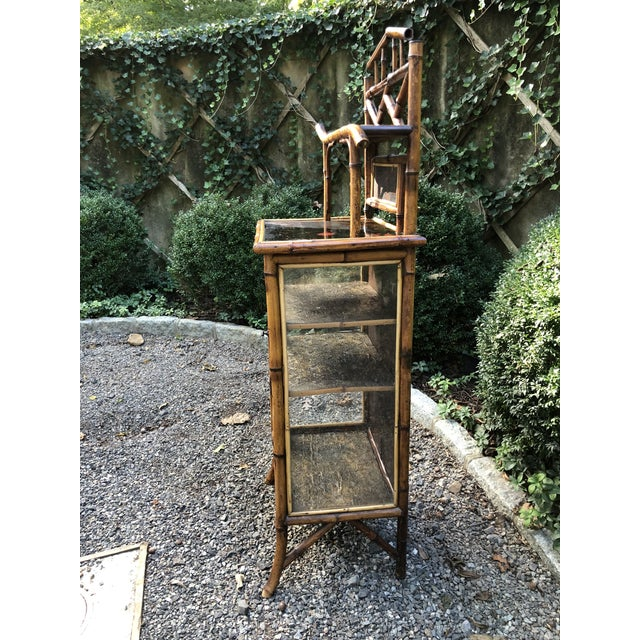 19th Century English Bamboo Cabinet For Sale In New York - Image 6 of 11