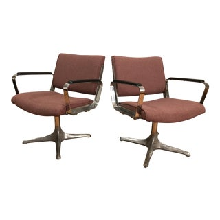 Chrome Eames Style Chairs - A Pair For Sale