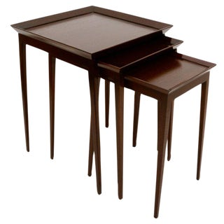 Widdicomb Set of Nesting Mahogany Tables For Sale