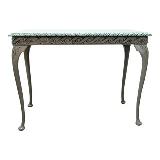 Reinvented Antique English Credenza in Celadon For Sale