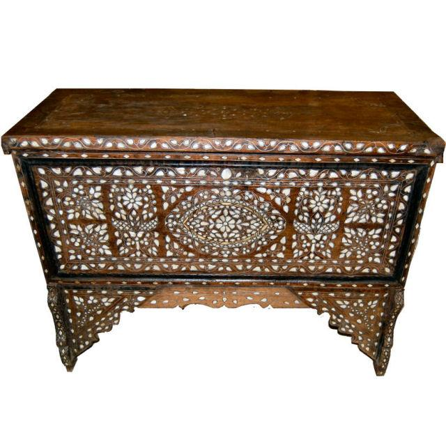 Vintage Syrian Bridal Chest - Image 1 of 8