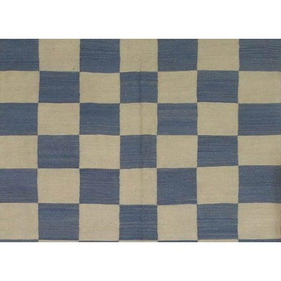 "Pasargad Art-Deco Style Wool Kilim - 5'7"" X 7'5"" - Image 2 of 2"