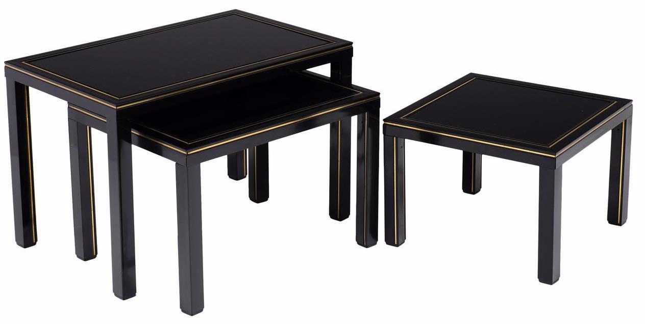 Pierre Vandel French Nesting Tables - Set of 3 - Image 1 of 10  sc 1 st  Chairish & Pierre Vandel French Nesting Tables - Set of 3 | Chairish