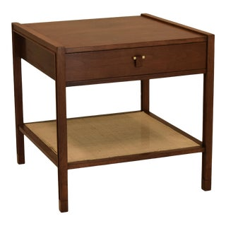 Dunbar Rattan and Walnut Sofa Table For Sale