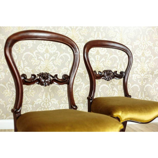 19th Century Louis Philippe Mahogany Chairs Circa 1880 - Set of 4 For Sale - Image 4 of 8