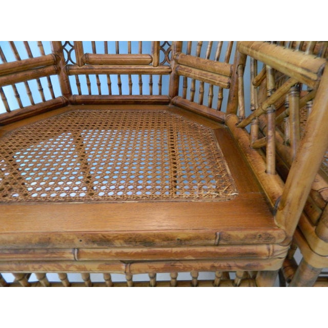Vintage Brighton Pavilion-Style Bamboo Chairs - A Pair For Sale - Image 9 of 11