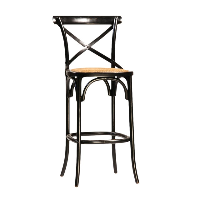 Black Painted Oak Bar Stool - Image 1 of 2