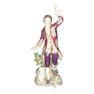 Antique Sitzendorf Porcelain Figurine For Sale