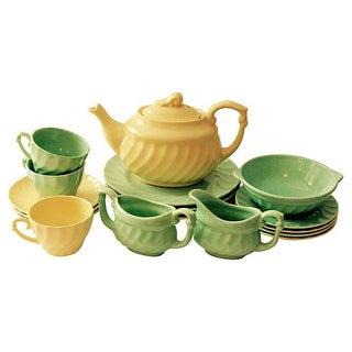 Metlox California Pottery Luncheon Tea Set For Sale