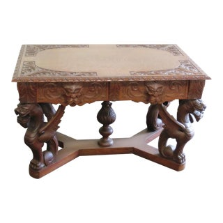 Renaissance Style Desk For Sale