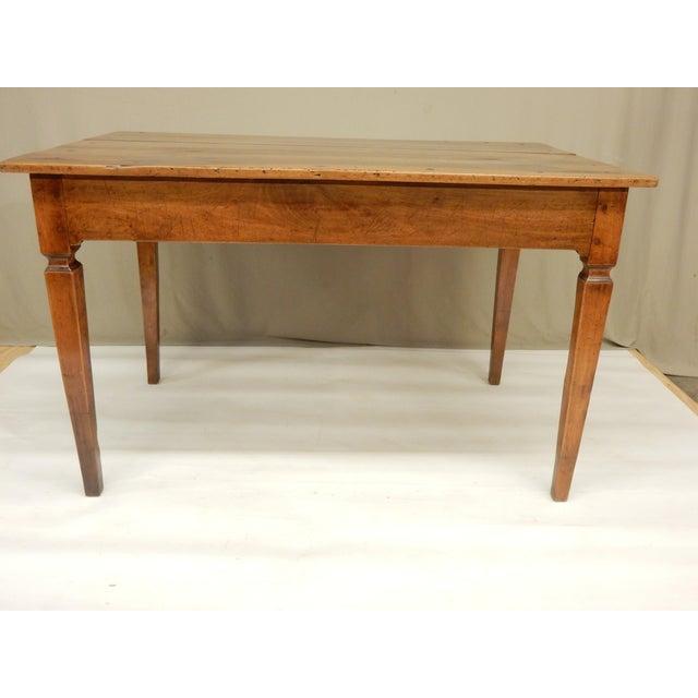 Early 19th c. Directoire' walnut provincial farm table/ writing desk.