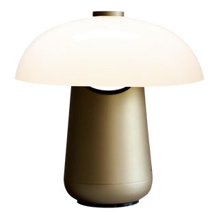 Contardi Ongo Metal Table Lamp, Bronze and White For Sale