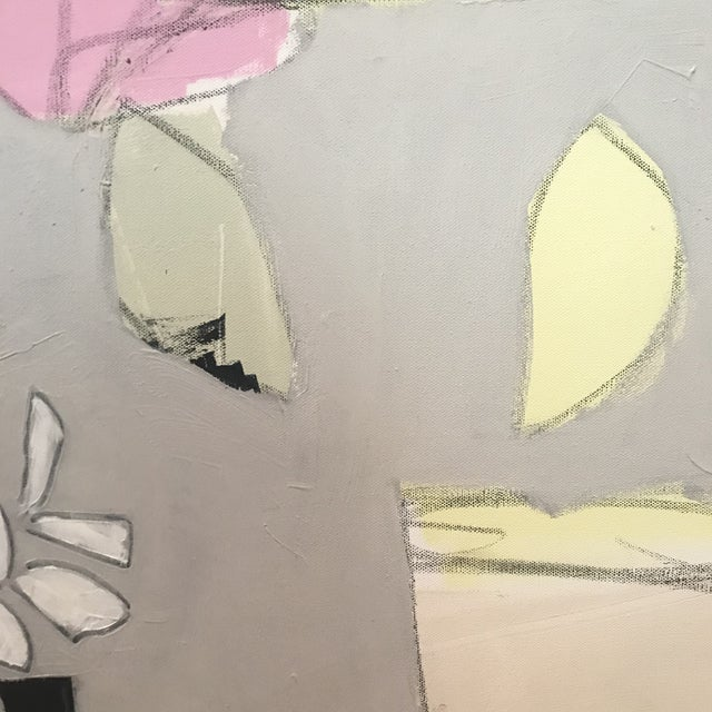 """2020s Sarah Trundle, """"Happy Flowers"""", Contemporary Abstract Painting For Sale - Image 5 of 5"""