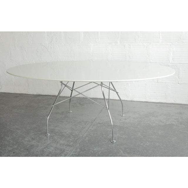 2000 - 2009 Antonio Citterio Oval Glossy Table for Kartell For Sale - Image 5 of 7