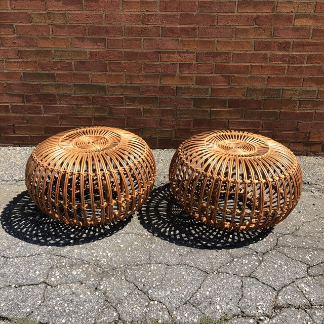 1960s Franco Albini Ottomans, a Pair For Sale - Image 5 of 12