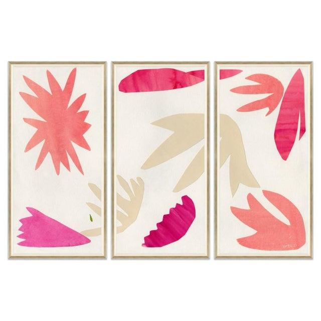 Not Yet Made - Made To Order Spring Fling I, II & III Framed Art Prints - Set of 3 For Sale - Image 5 of 5