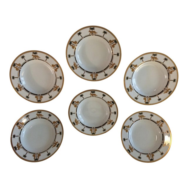 "Christian Dior Hollywood Glamour ""Casablanca"" Fine China Bowls - Set of 6 - Image 1 of 10"