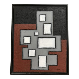 """""""Compositions in Black and White"""" Contemporary Abstract Painting, Framed For Sale"""