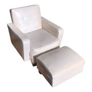 Mid-Century Chair & Ottoman Set For Sale