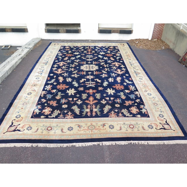 Item: 28777E: Palatial Approx. 27' x 17' Persian Heriz Pattern Rug Age: Approx: 60 Years Old Details: Bright & Vibrant...