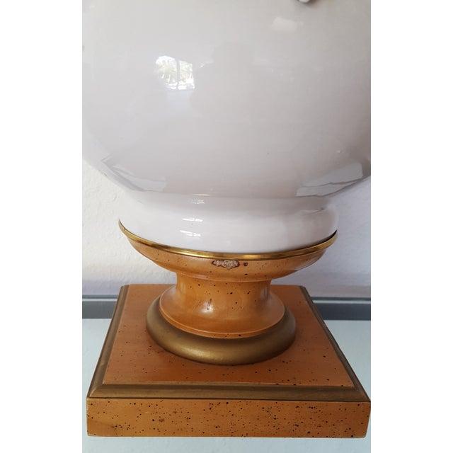 Hollywood Regency Porcelain Grape Cluster Lamp - Image 5 of 7