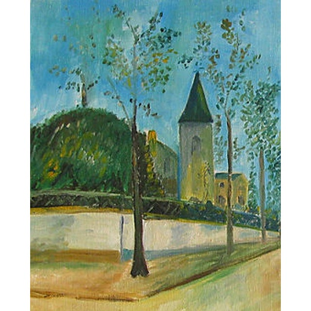 Vintage French Village Painting - Image 2 of 3