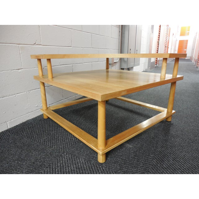 Mid century corner table by th robsjohn gibbings chairish for Table th width