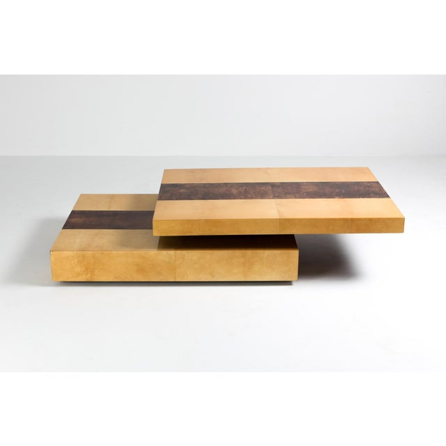 Aldo Tura Two-Tier Sliding Coffee Table For Sale - Image 9 of 12