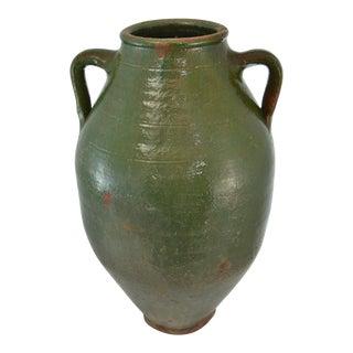 Turkish Oversize Dark Green Glazed Urn