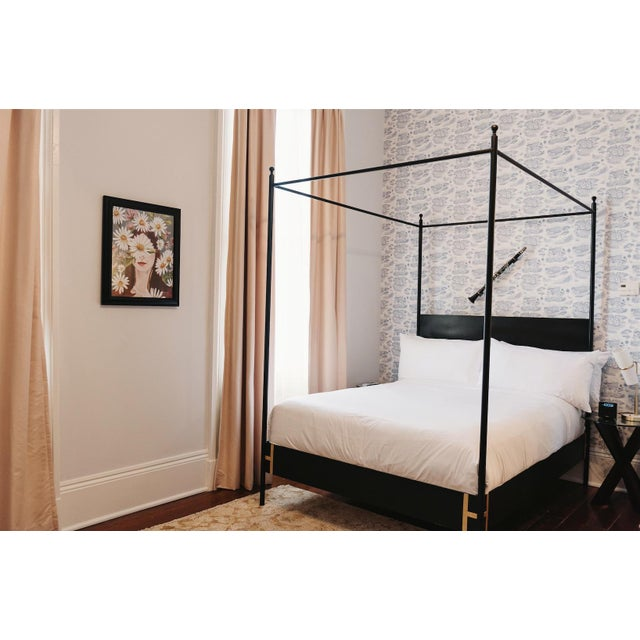 Metal Contemporary Josephine Queen Size Canopy Bedframe For Sale - Image 7 of 7