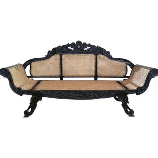 Anglo-Indian Carved Banquette