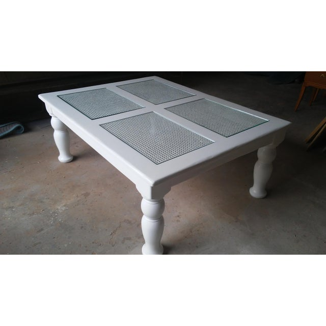 Cane & Glass Coffee Table - Image 2 of 4
