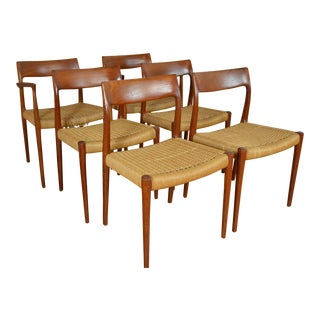j.l. Møllers Møbelfabrik Danish Modern Teak Dining Chairs - Set of 6 For Sale