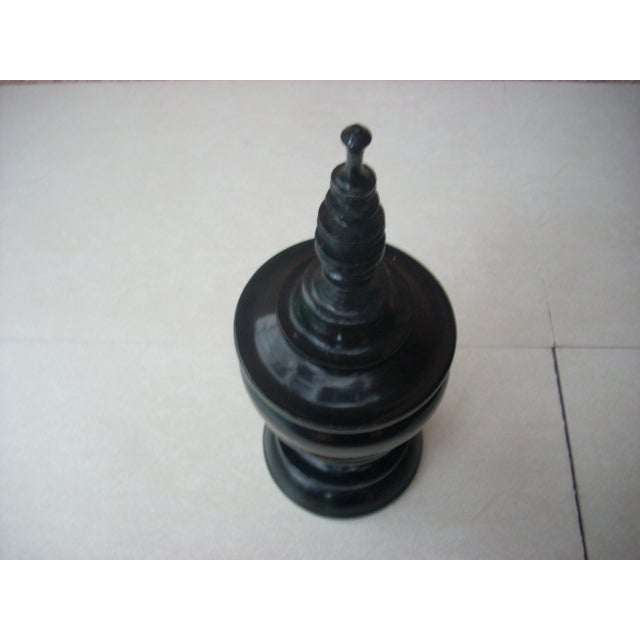 Thai Black Lacquer Urn For Sale - Image 4 of 5