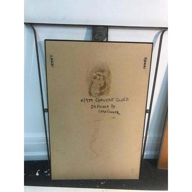 Brass Gorgeous Carvers Guild Wall Mirror in the Manner of Jean Royere For Sale - Image 8 of 9