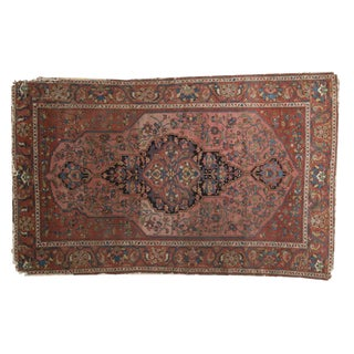 "Antique Mission Malayer Rug - 4'5"" X 7' For Sale"
