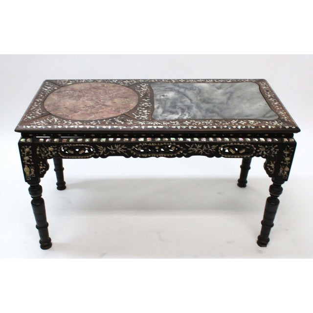 Marble & Mother of Pearl Inlay Table - Image 2 of 10