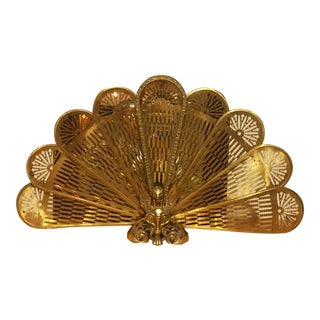 1960s Brass Fireplace Screen For Sale